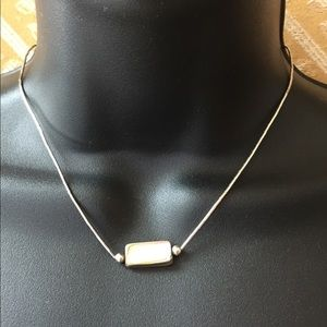 Vintage STER Silver Mother-of-Pearl Necklace 15""